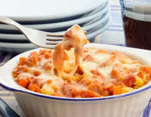 Pasta al forno con ragu di carote