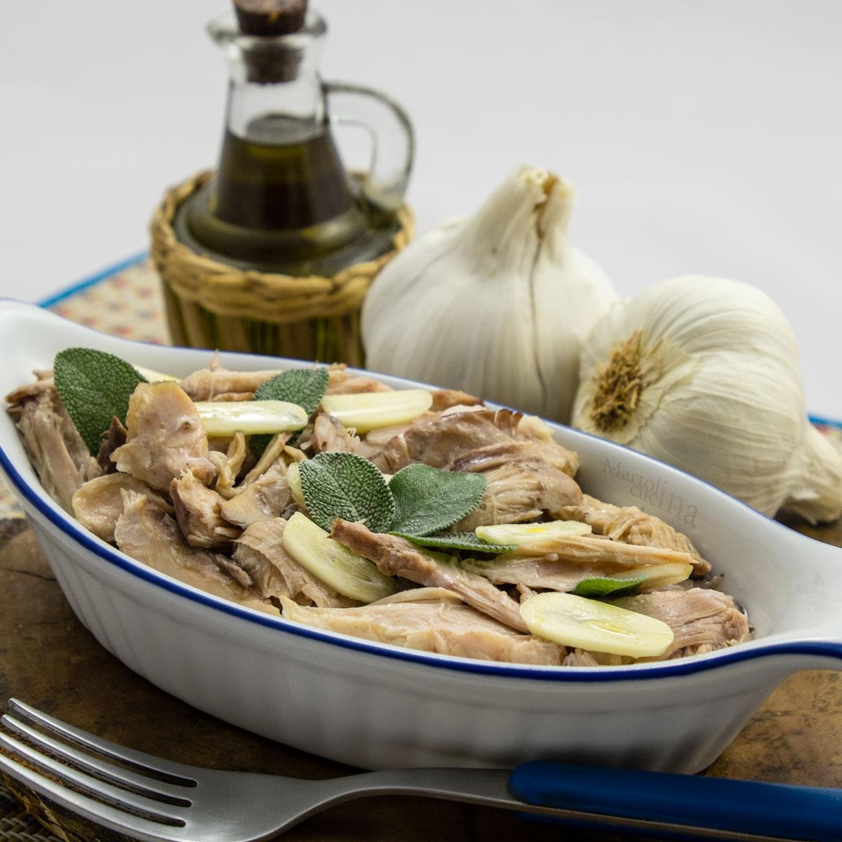 Tonno di coniglio con aglio e salvia