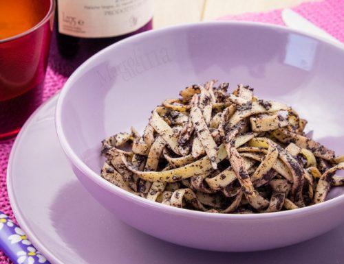 Fettuccine alla crema di olive