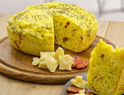 Focaccia salamino e formaggio