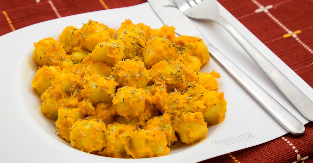 Gnocchi in crema di carote e timo
