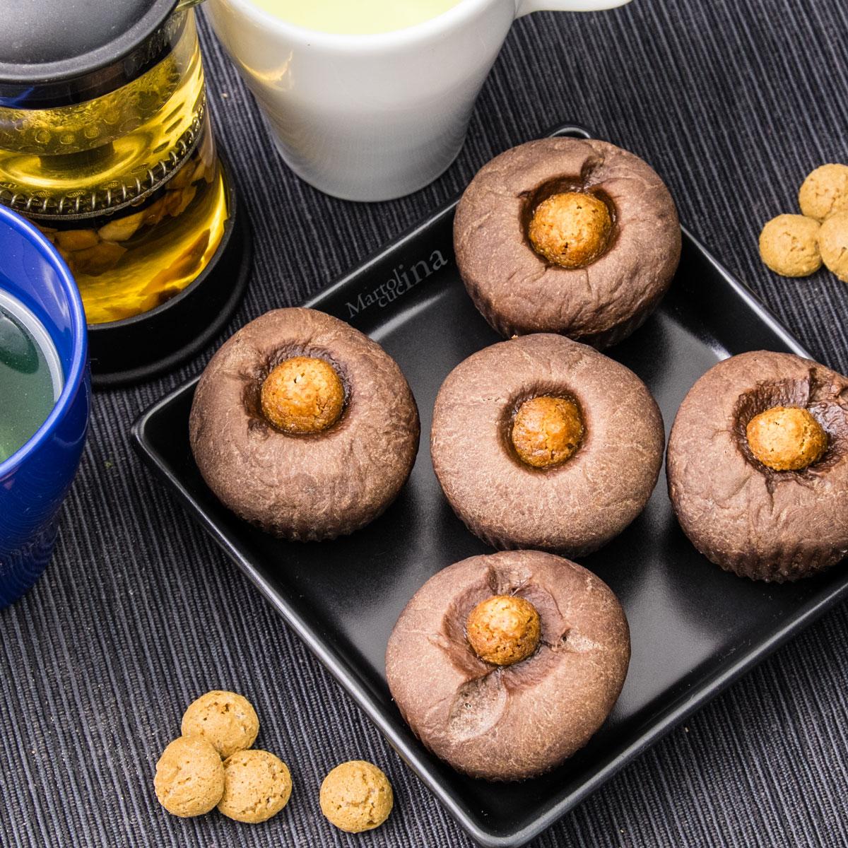 Muffin cioccolato e amaretti