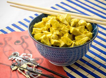 Pollo al curry e yogurt
