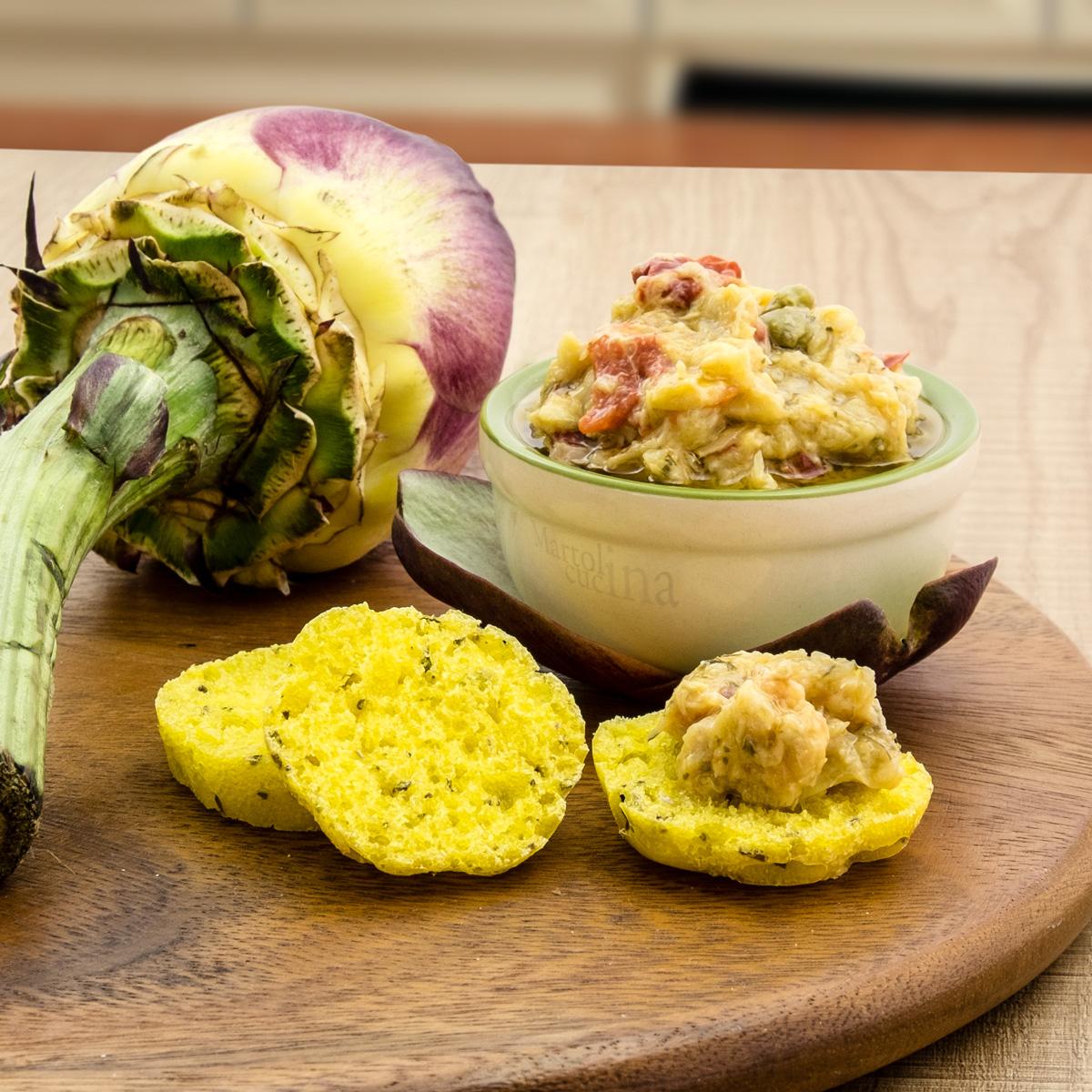 Salsa di carciofi e peperoni