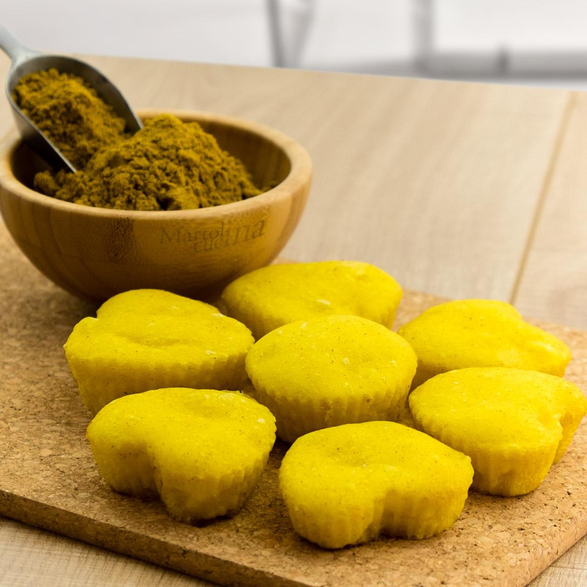Focaccine al curry