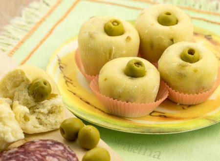 Muffin con olive senza burro