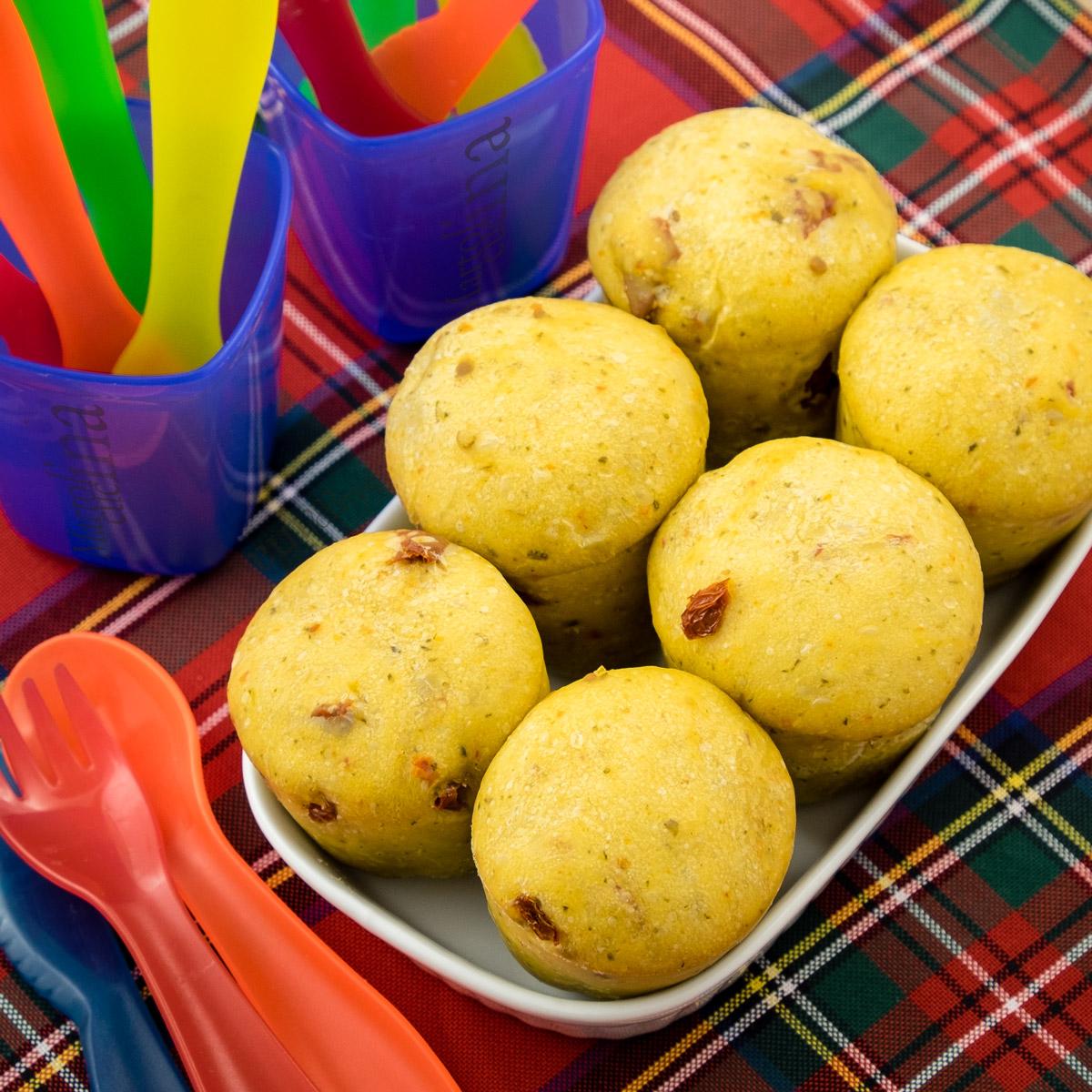Muffin di pane ai pomodorini secchi