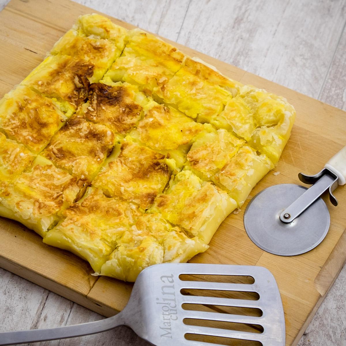 Sfoglia ai formaggi e patate