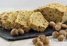 Plumcake integrale prosciutto, funghi e nocciole, senza burro