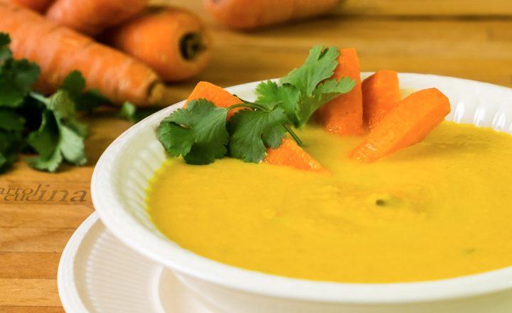Crema di carote e coriandolo, ricetta doppia