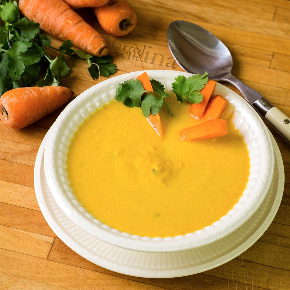 Crema di carote e coriandolo