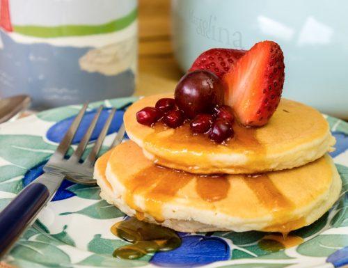 Pancakes di ricotta, senza lievito, ricetta facile