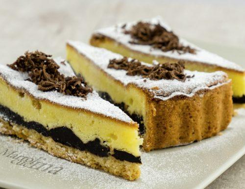 Crostata al cioccolato fondente e crema