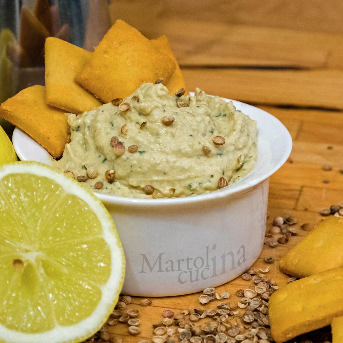 Hummus limone e coriandolo