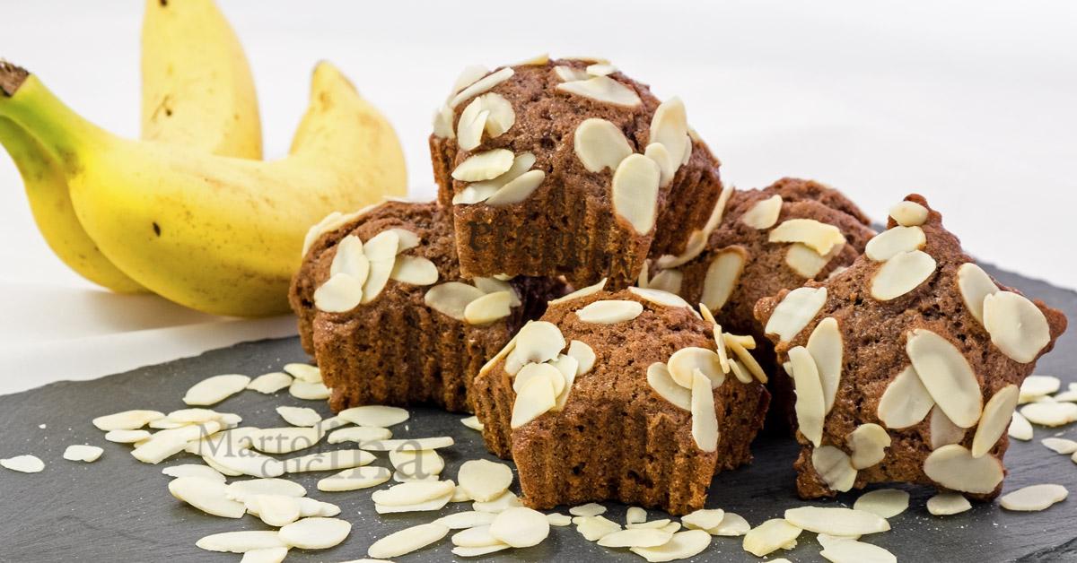 Muffin banane e cioccolato senza burro