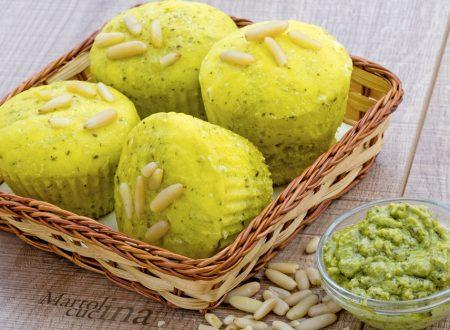 Muffin di pane pesto e pinoli