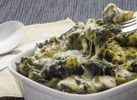 Pasta alla crema di spinaci e stracchino