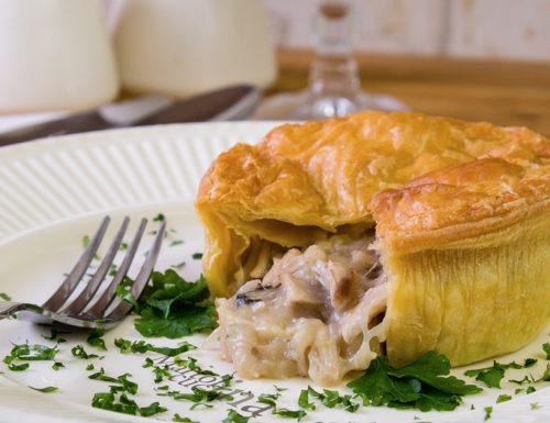 Pie di pollo e funghi, ricetta facile inglese