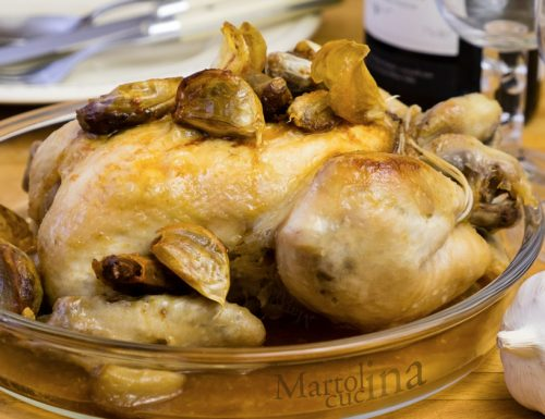 Pollo ai 40 spicchi di aglio, secondo facile e saporito