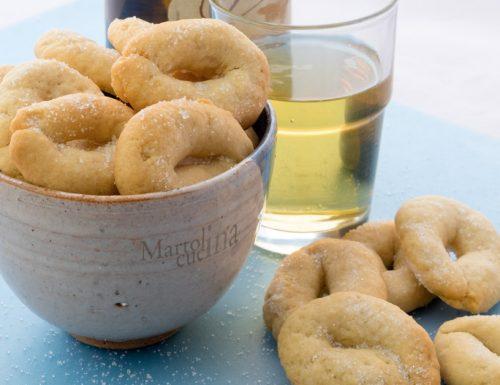 Taralli dolci alla birra senza burro, biscotti facili