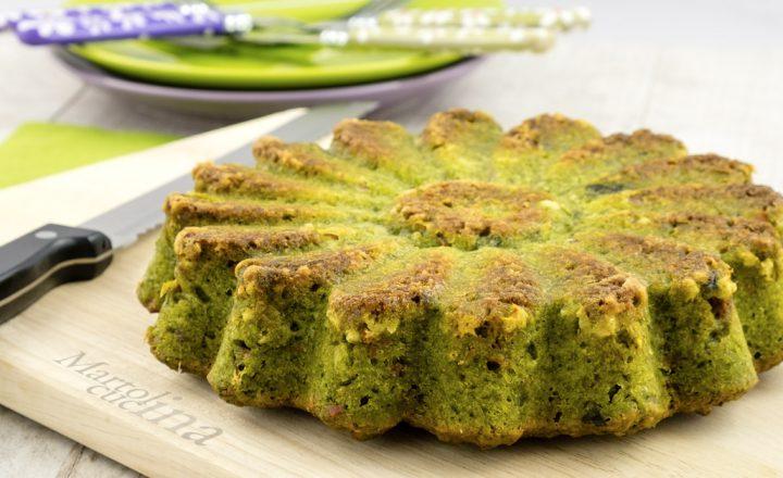 Torta salata 7 vasetti con spinaci e prosciutto, senza burro e bilancia