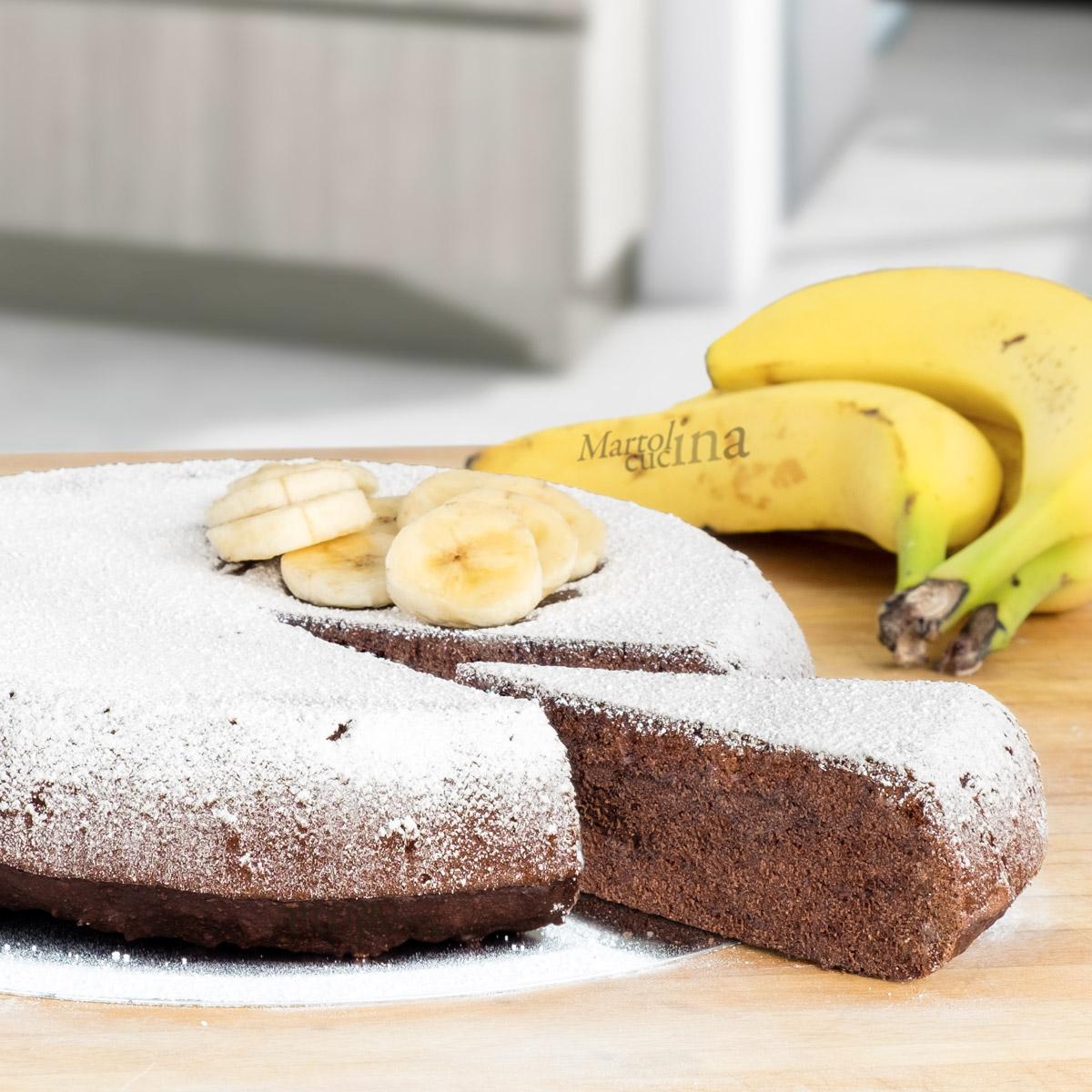 Dolce con cacao banane e olio di oliva
