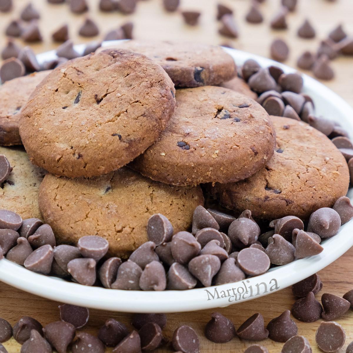 Biscotti al cioccolato con olio di oliva