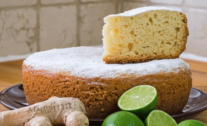 Dolce zenzero e lime, torta facile senza burro