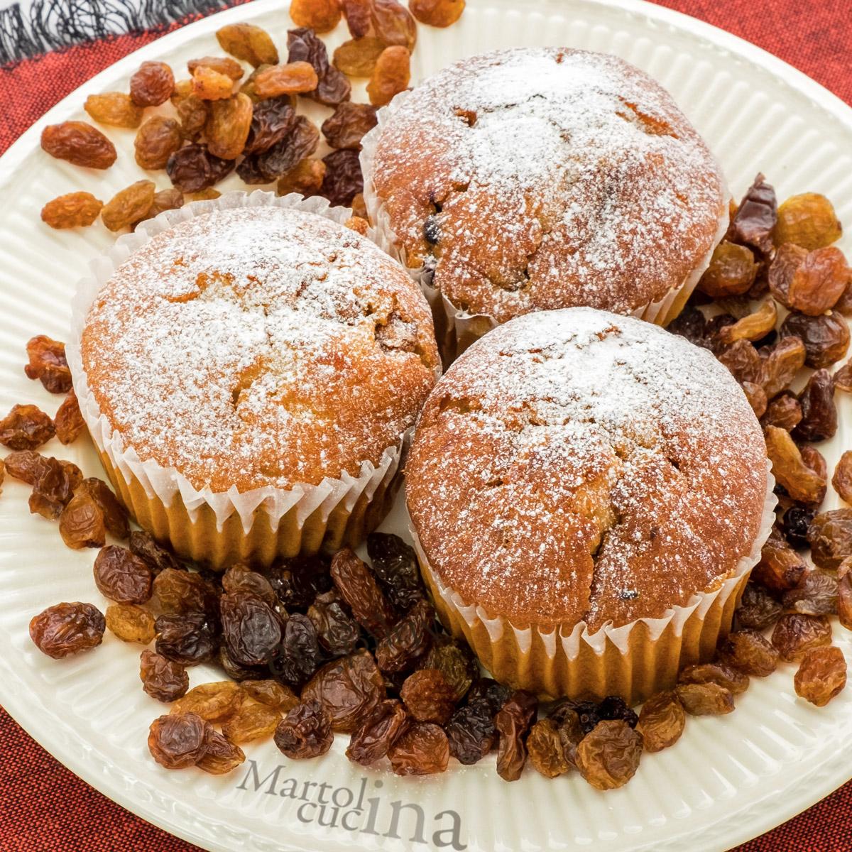 Muffin ricotta e uvetta