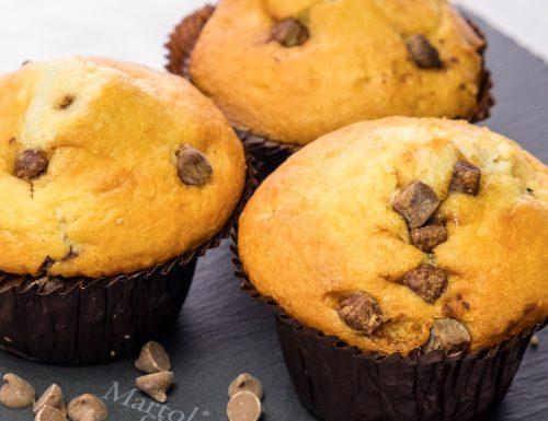 Muffin allo yogurt e gocce di cioccolato fondente, ricetta facilesenza burro