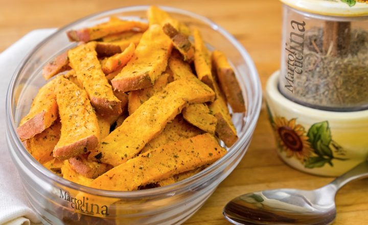 Patate dolci al forno, ricetta facile senza grassi