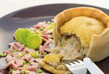Pie di pollo prosciutto e porri