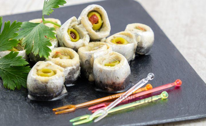 Alici olive e peperoni, antipasto veloce senza cottura
