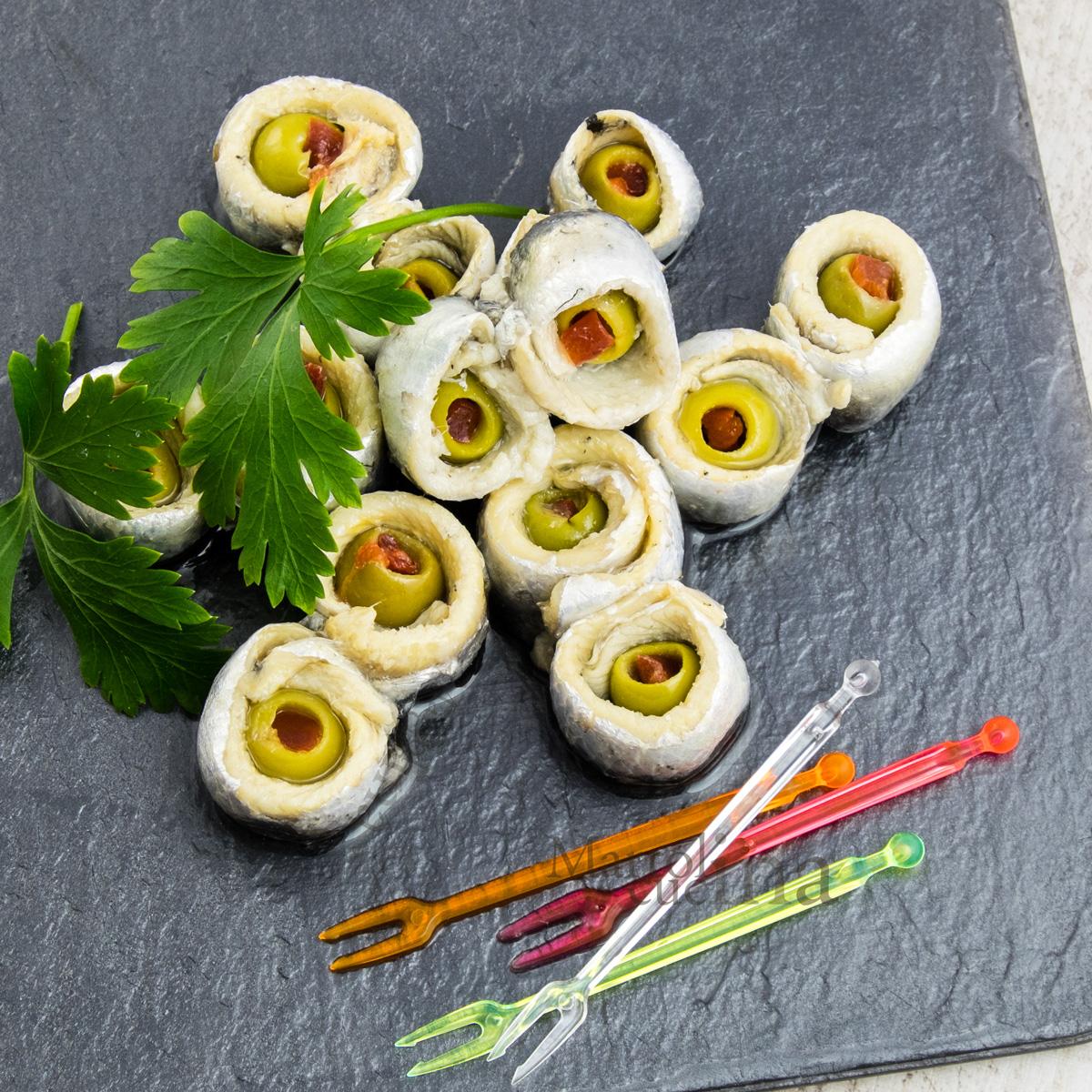 Alici olive e peperoni