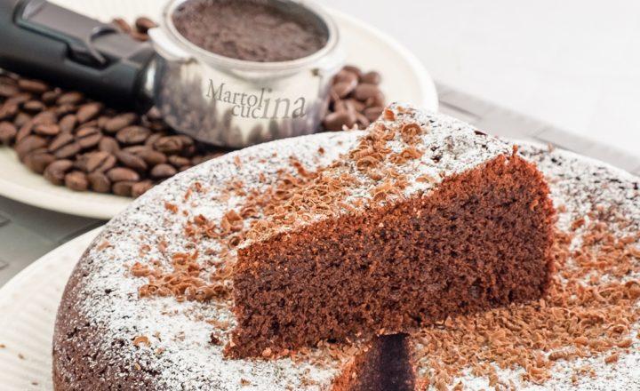 Dolce con fondi di caffe e cioccolato