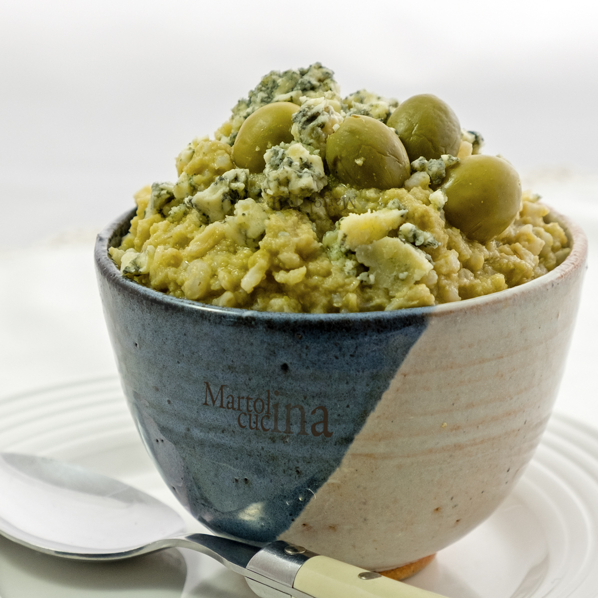 Risotto olive e formaggio