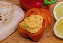 Hummus di peperoni arrosto, salsa facile