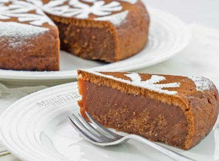 Torta cioccolato e marmellata, senza burro uova e latticini