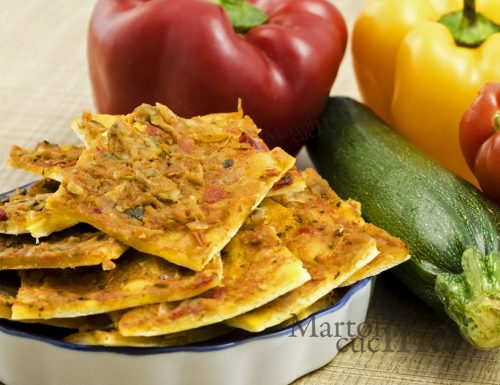 Focaccia al sugo di verdure, ricetta facile vegetariana