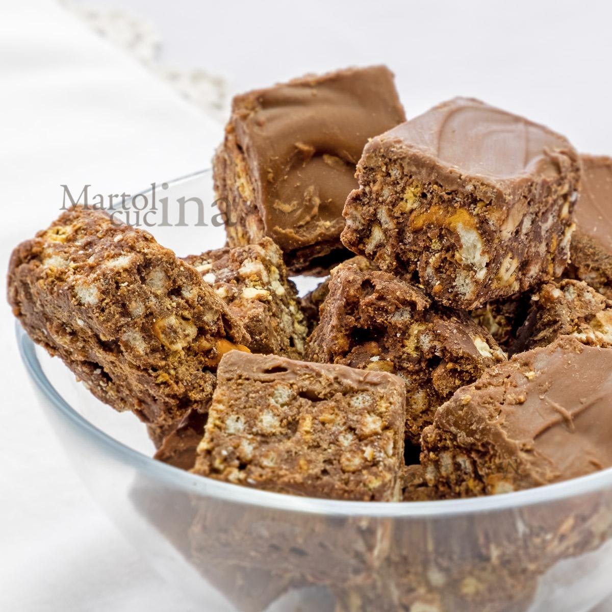 Pasticcini di cioccolato e pretzel