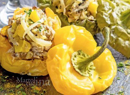 Risotto al curry con peperoni e sgombri, ricetta facile