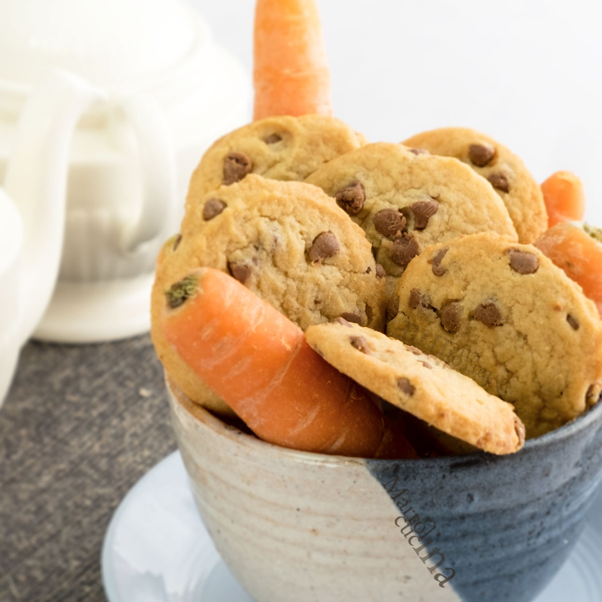 Biscotti carote cioccolato