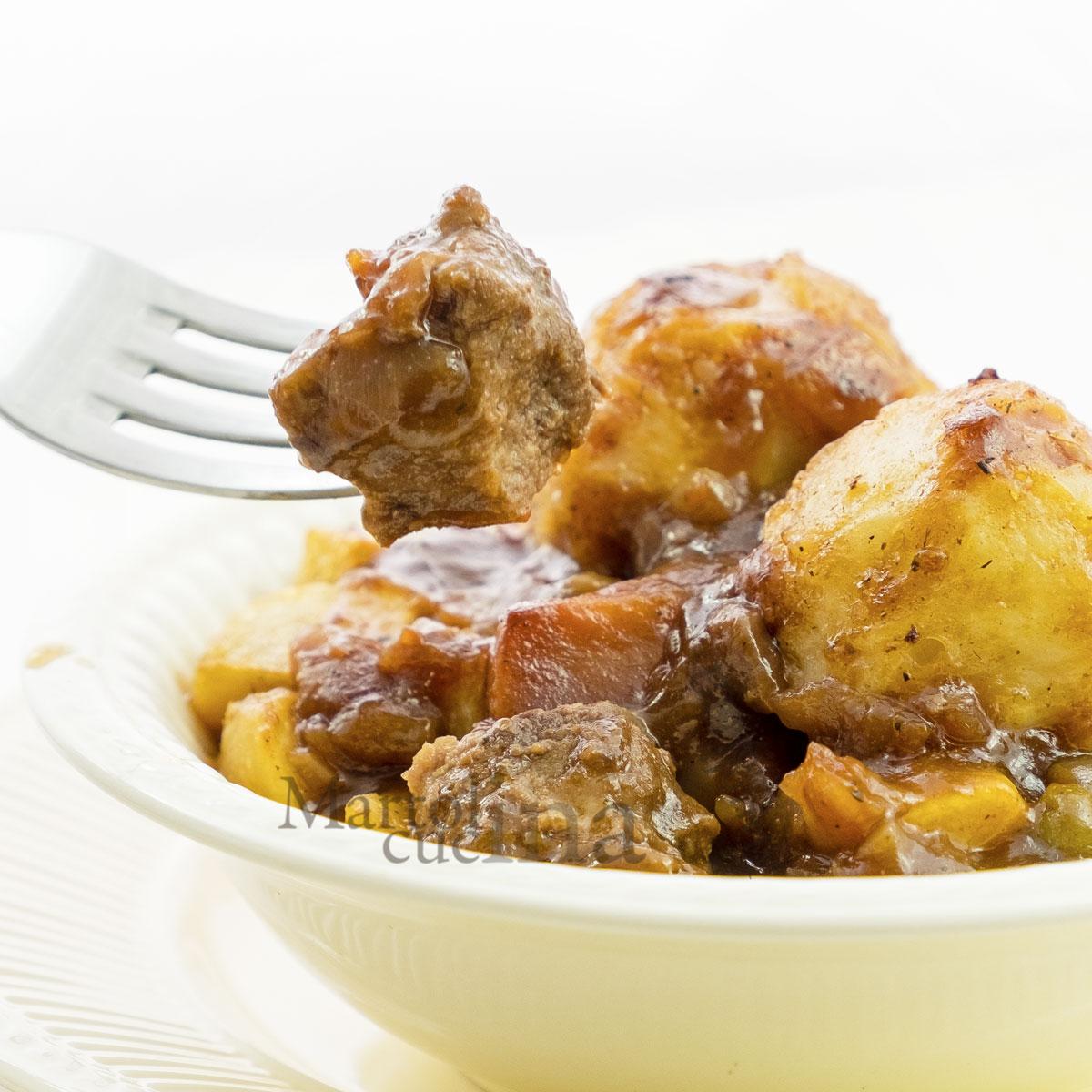 Bocconcini di manzo con patate