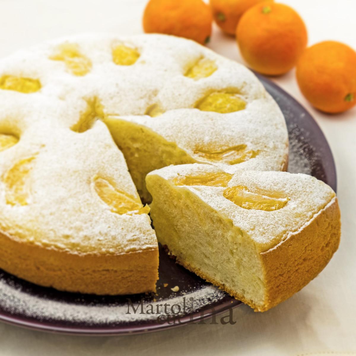 Dolce di mandarini frullati
