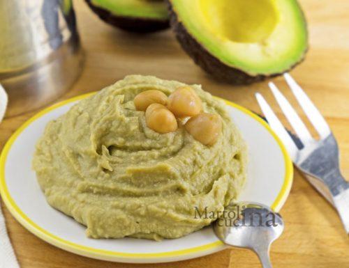 Hummus di avocado, ricetta facile