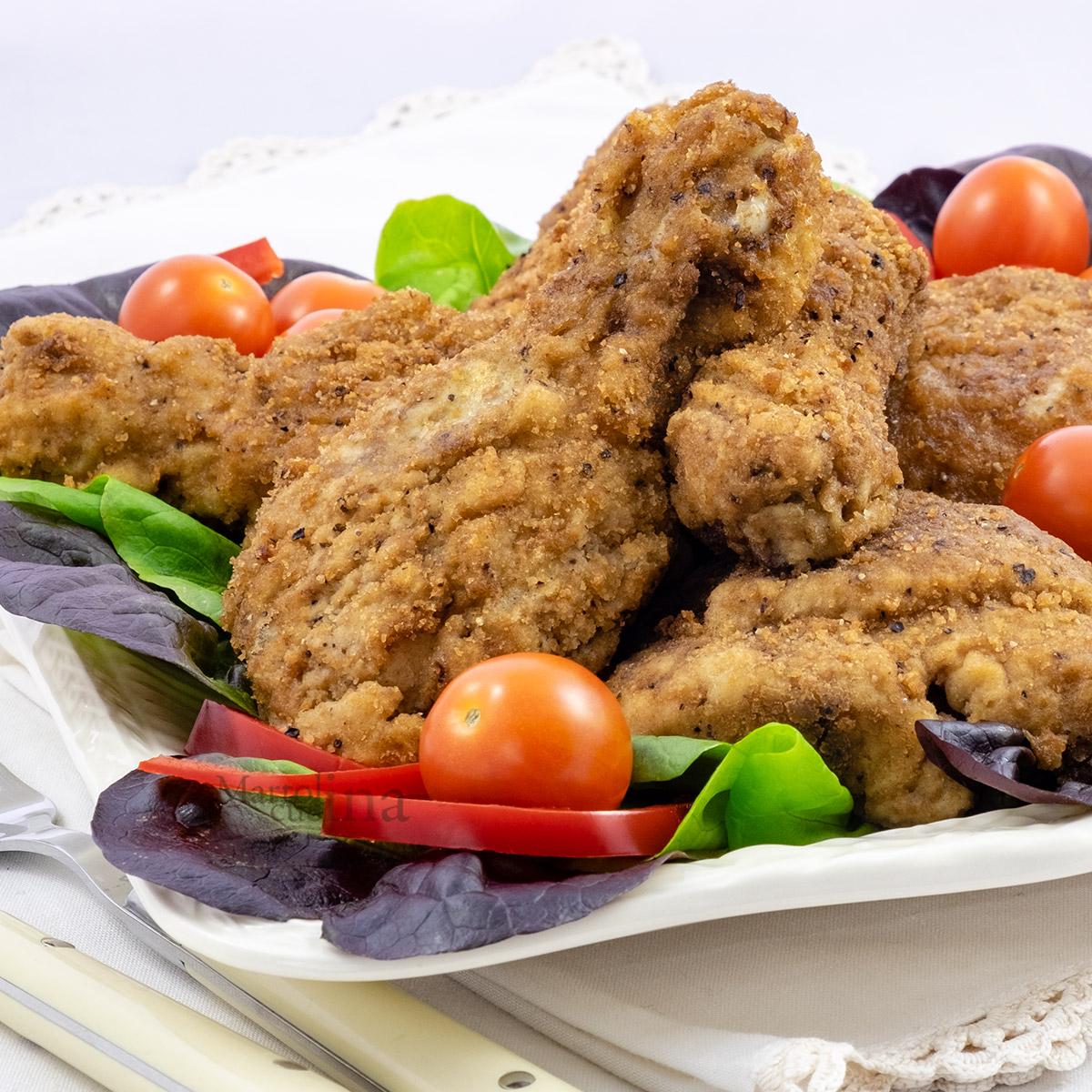 Pollo impanato al forno