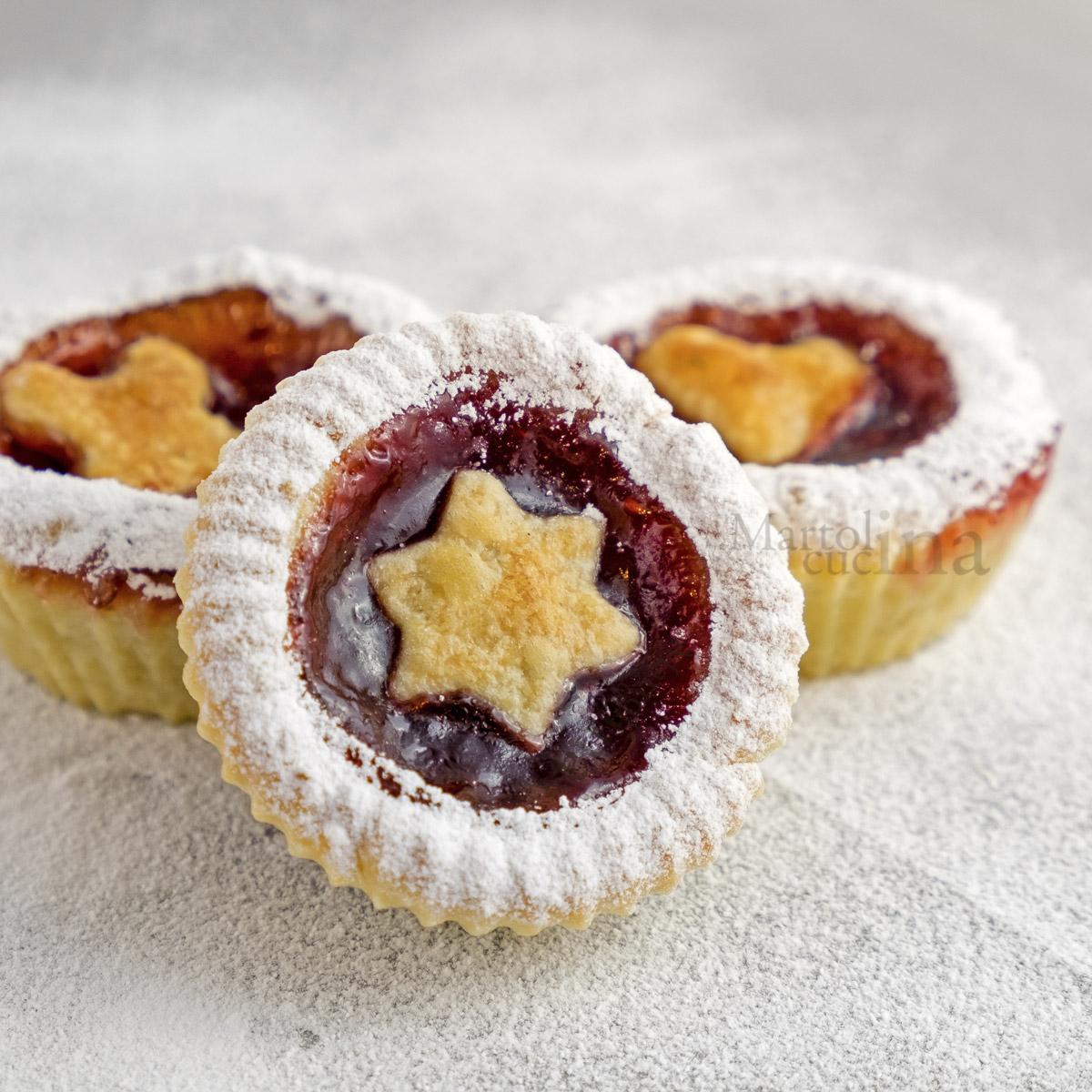 Crostatine muffin alla confettura