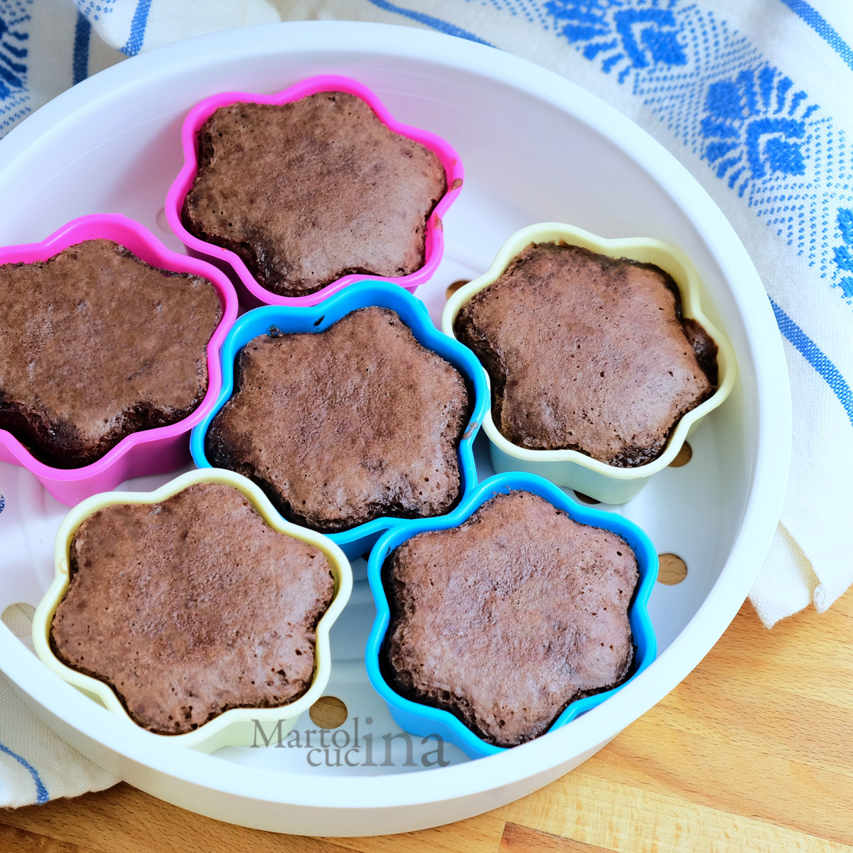 Muffin al cioccolato al vapore
