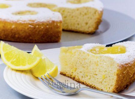 Dolce ricotta e limone, senza burro e olio