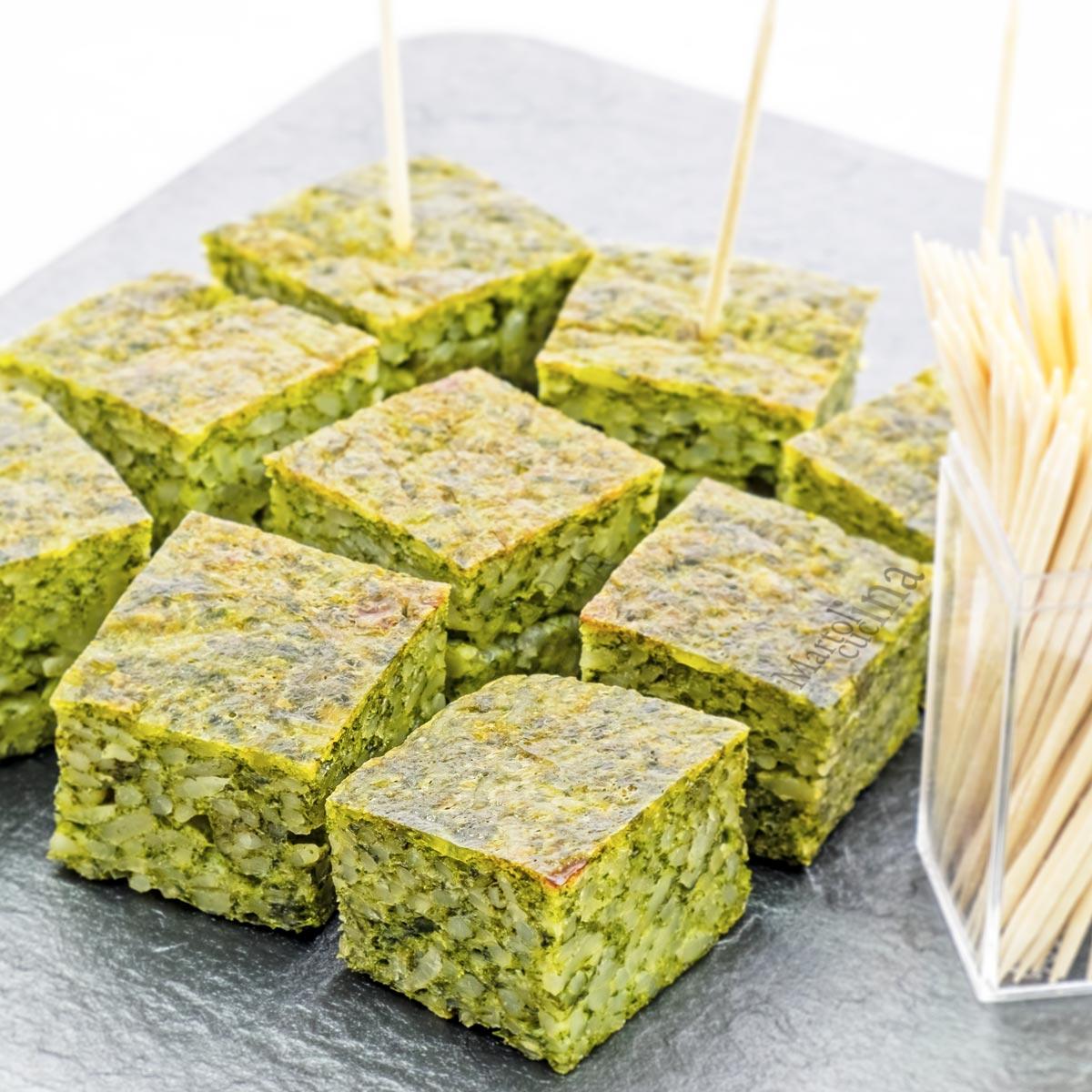 Frittata di riso agli spinaci